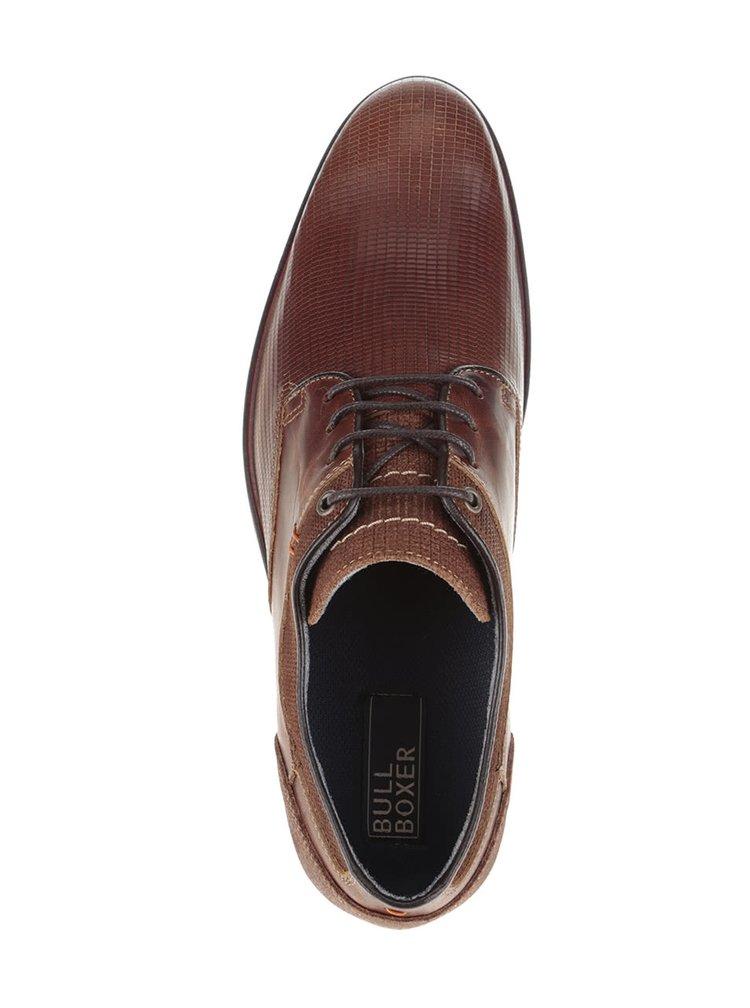 Pantofi maro Bullboxer cu model discret