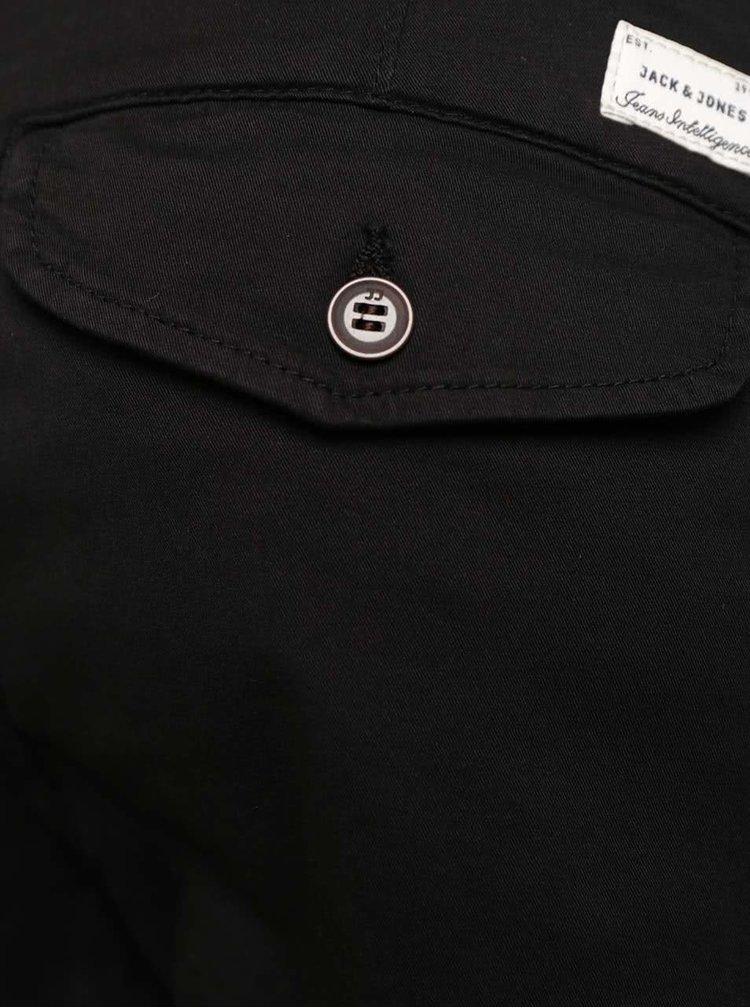 Čierne nohavice s vreckami Jack & Jones Paul