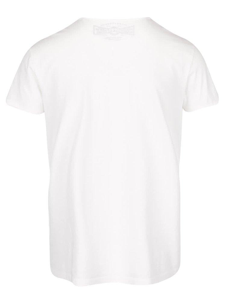 Krémové triko s véčkovým výstřihem Jack & Jones Wolf