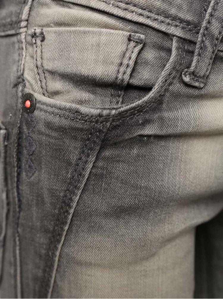 Šedé holčičí džíny s vyšisovaným efektem  Cars Jeans Vicka