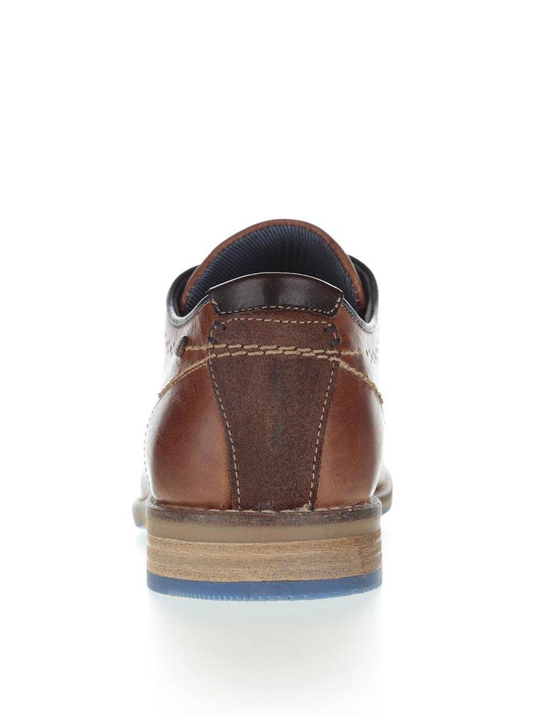 Pantofi maro brogue Bullboxer din piele