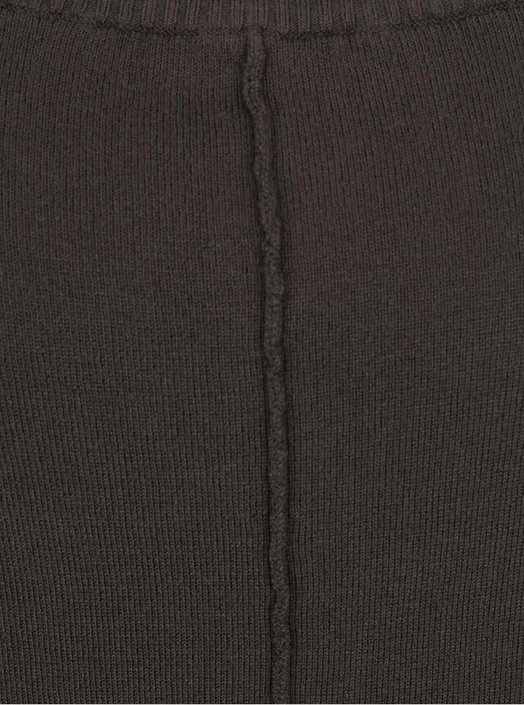 Zelený dlhý sveter s netopierími rukávmi b.young