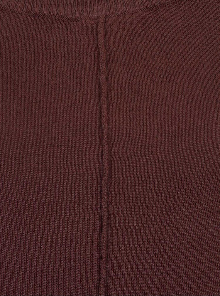 Hnědý dlouhý svetr s netopýřími rukávy b.young