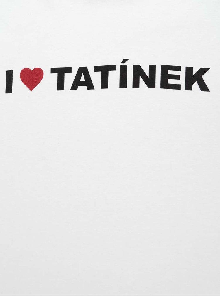 Biele detské unisex tričko ZOOT Kids - I Love Tatínek
