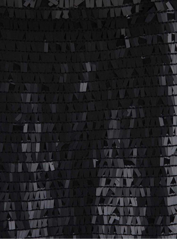 Černý halenka s aplikací Imorio b.young