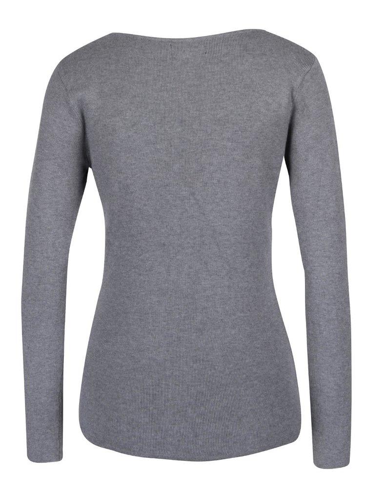 Šedé tričko s dlouhým rukávem Haily´s Karen