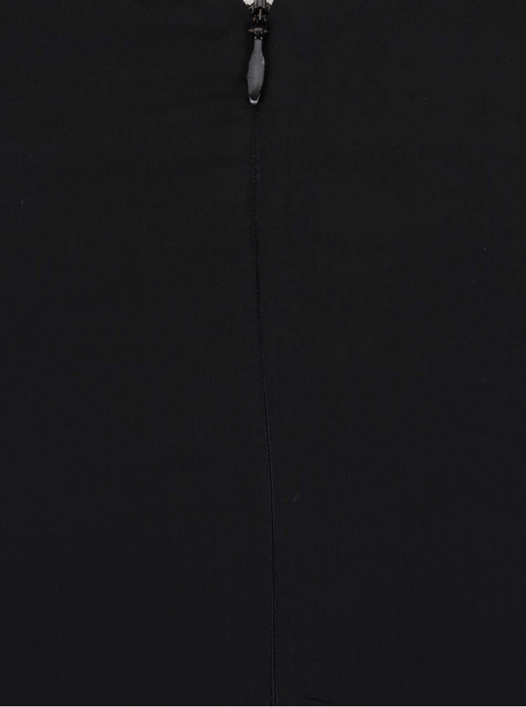 Černé šaty s volánky na přední straně Catherine b.young