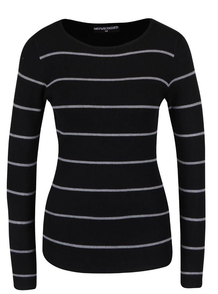 Bluză neagră în dungi Haily´s Karen