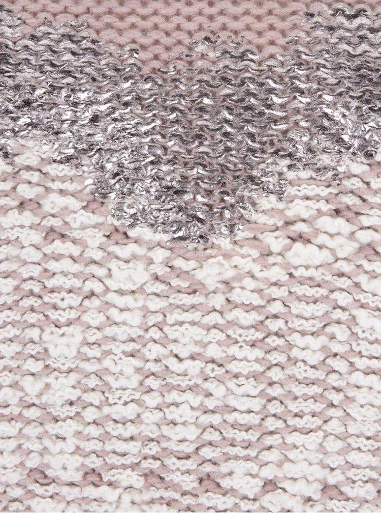 Staroružový sveter s viazankou a podtlačou srdca ZOOT