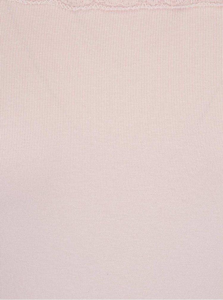 Bluză roz pal Haily´s Nelly cu aplicație dantelă