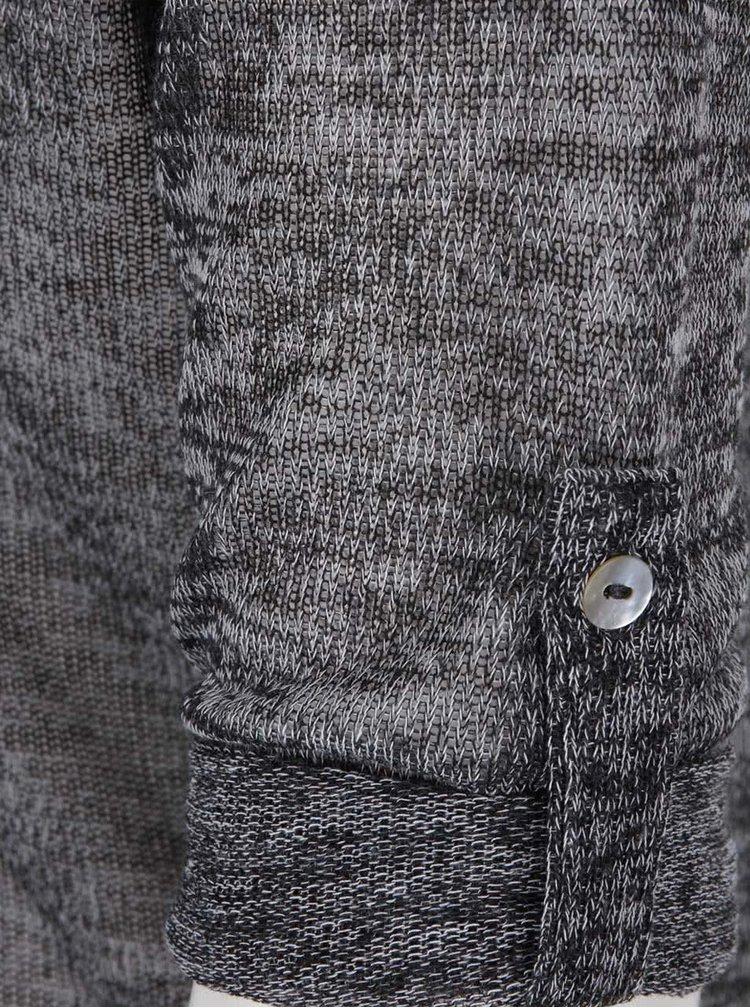 Tmavosivý melírovaný priesvitný top s 3/4 rukávmi Haily´s Sofia