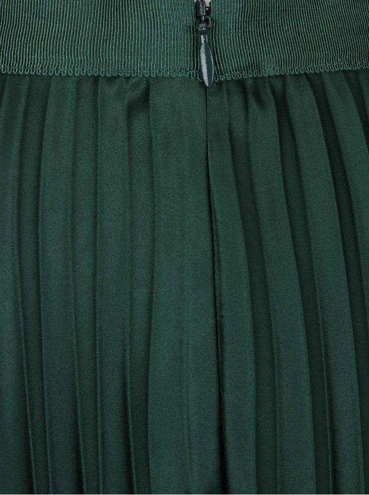 Tmavozelená plisovaná sukňa Maison Scotch