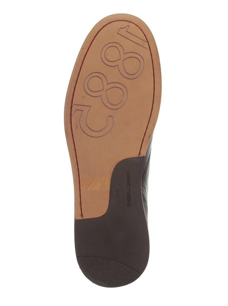Tmavohnedé kožené členkové topánky Frak Wright Walker