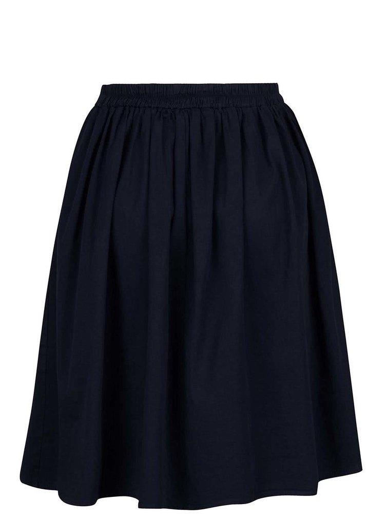 Tmavě modrá skládaná sukně ZOOT