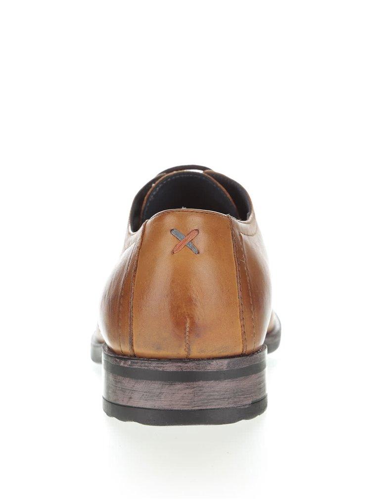 Pantofi maro deschis Frank Wright Elm din piele naturala