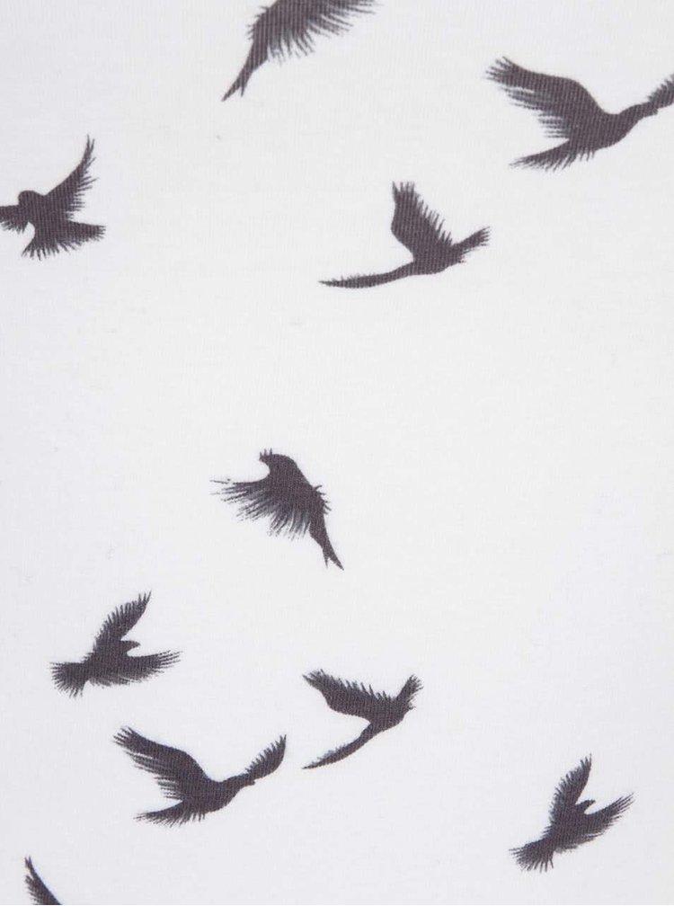 Krémové tielko s potlačou vtáčikov Haily´s Linda