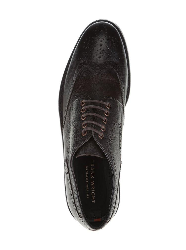 Pantofi maro închis Frank Wright Merc din piele naturală