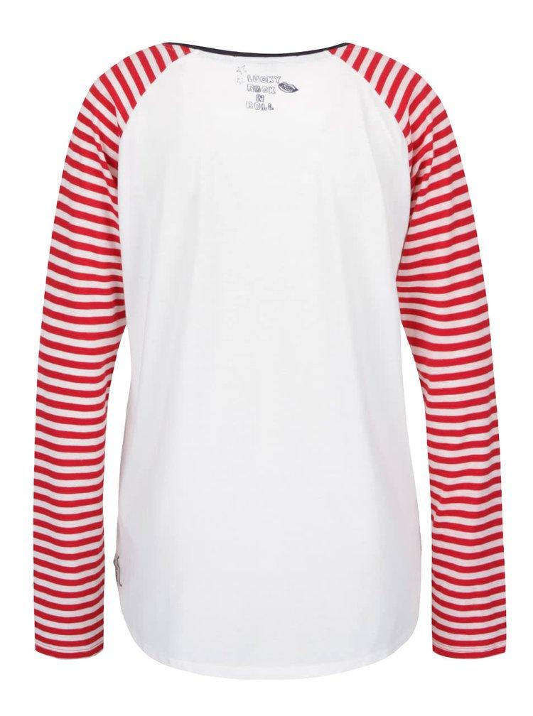 Bluză Maison Scotch crem cu roșu