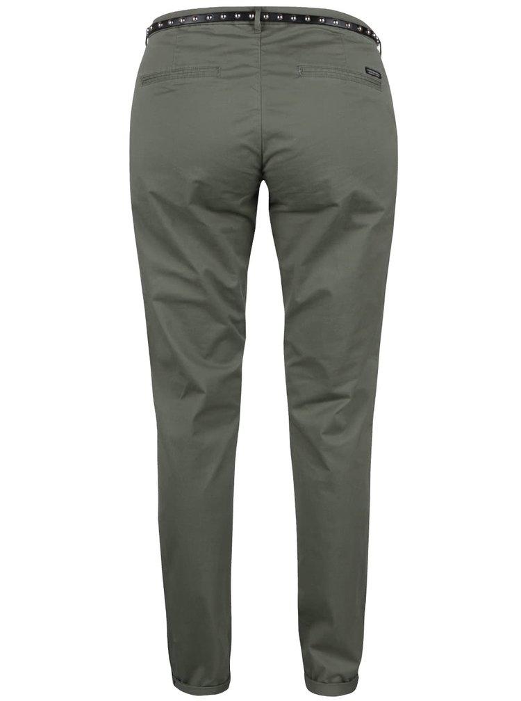 Světle zelené chino kalhoty s páskem Maison Scotch