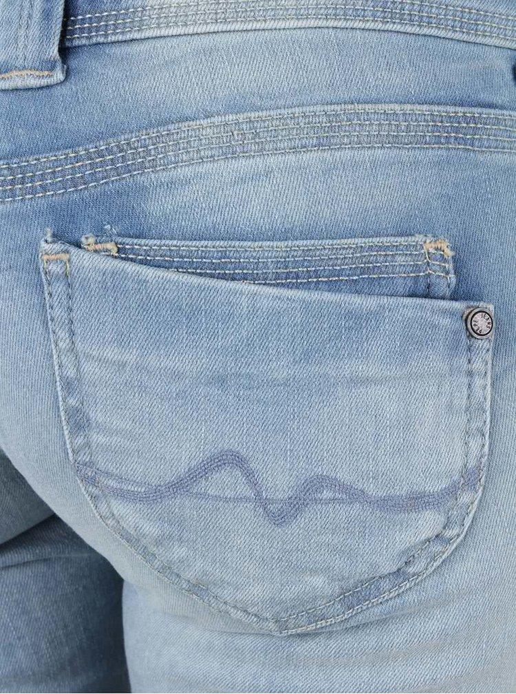 Světle modré dámské džíny s nízkým pasem Pepe Jeans Venus