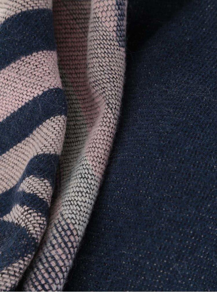 Fular albastru închis cu roz Haily´s Laura