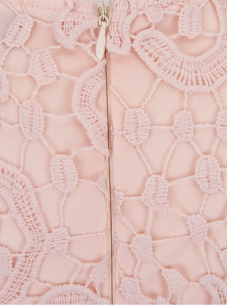 Ružové čipkové midišaty AX Paris