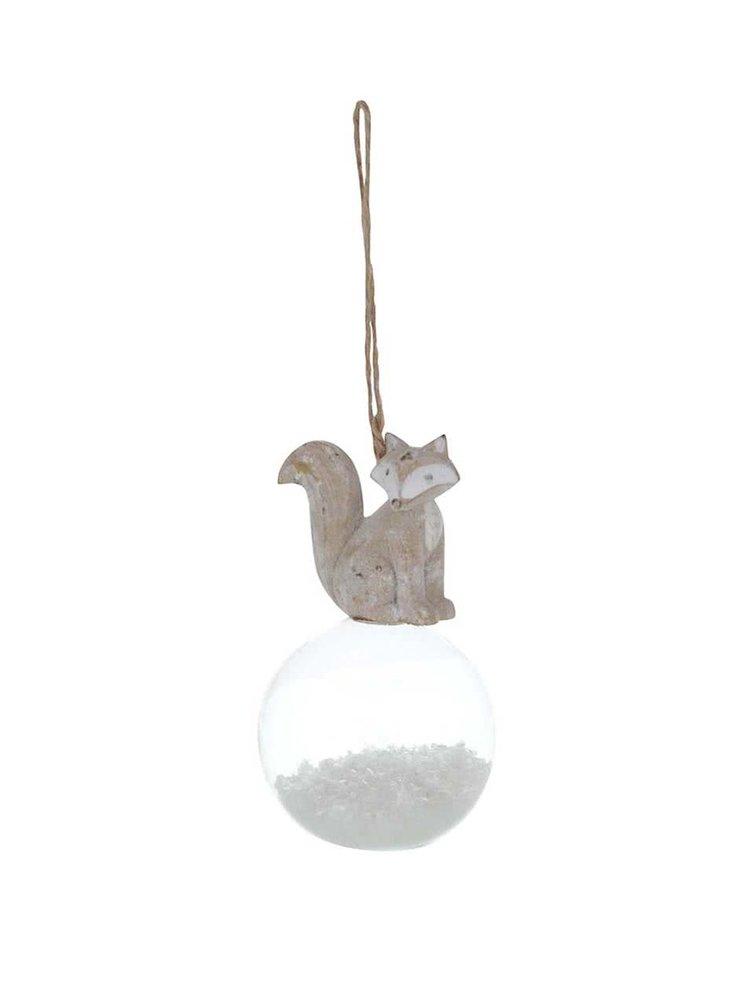 Set de 3 ornamente din lemn Sass & Belle cu globuri de sticla