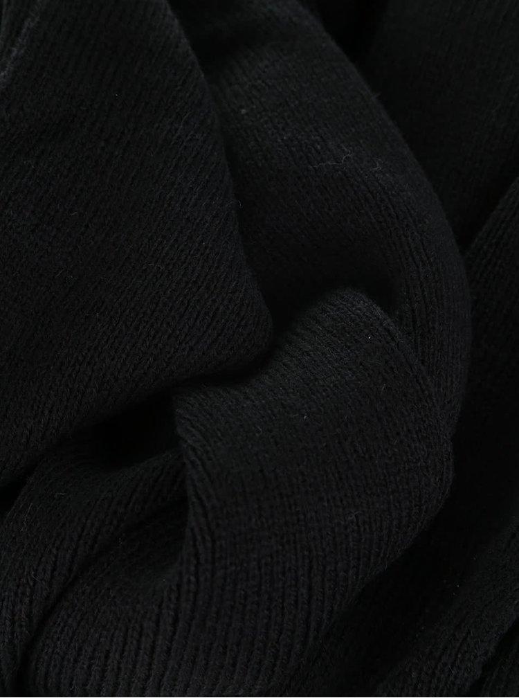 Černá dlouhá šála s metalickým vláknem ONLY Vita