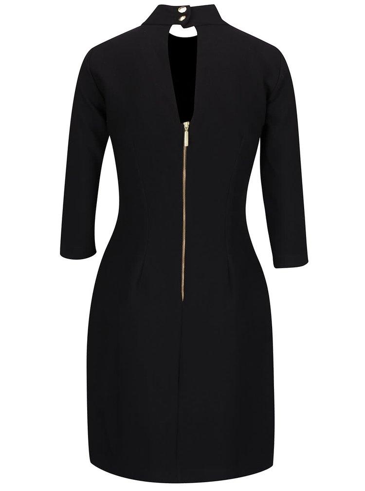 Černé šaty se stojáčkem a kapsami Closet