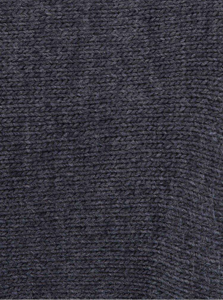 Tmavosivý voľnejší sveter s netopierími rukávmi VILA