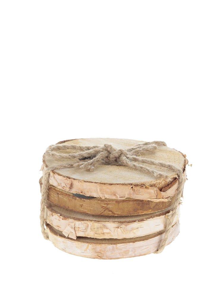 Set 4 suporturi pentru pahare Sass & Belle din lemn
