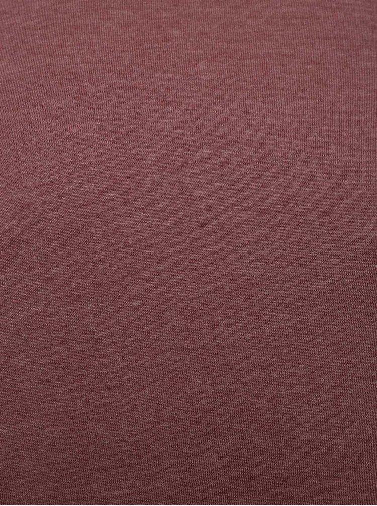 Tricou visiniu Burton Menswear London cu model discret