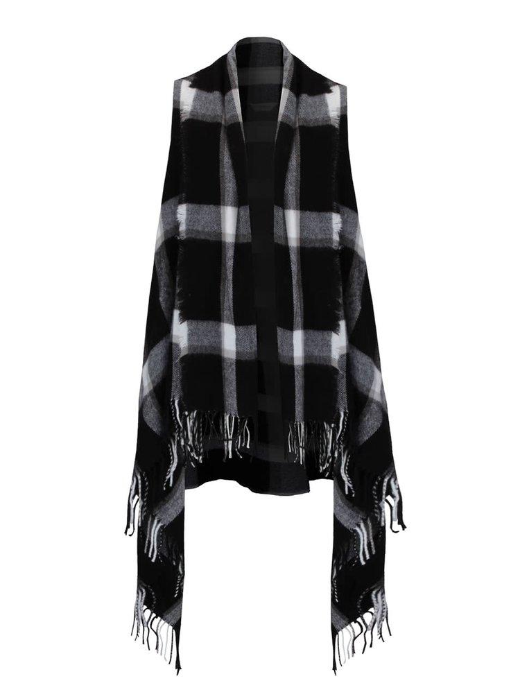 Čierno-biela vzorovaná vesta Miss Selfridge
