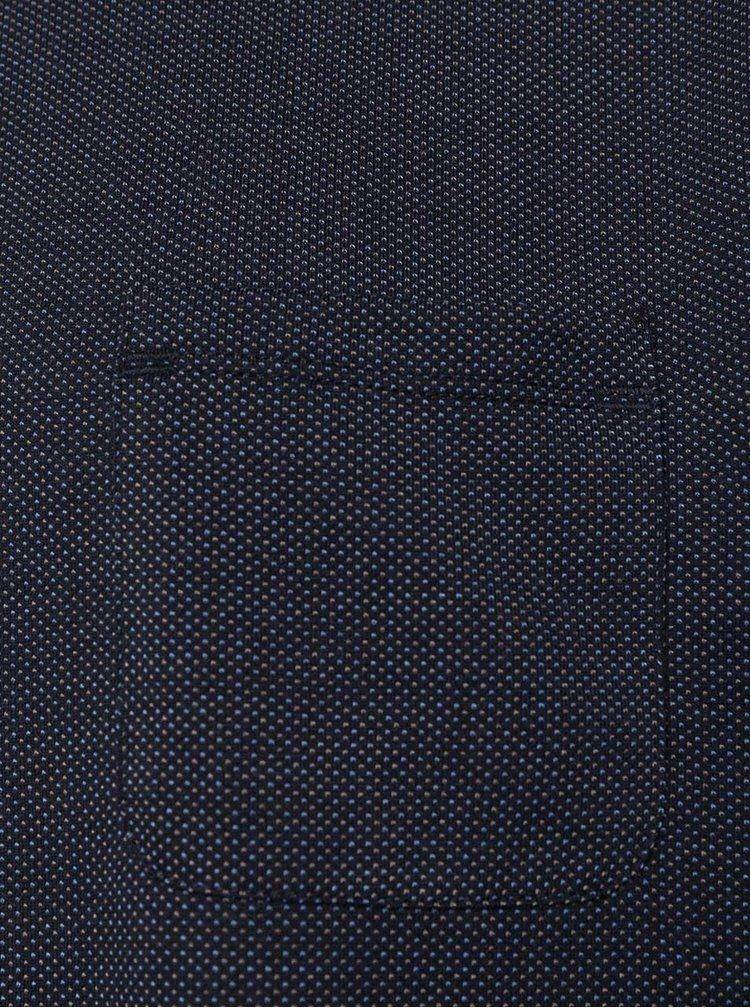 Tricou albastru închis Burton Menswear London cu buzunar la piept