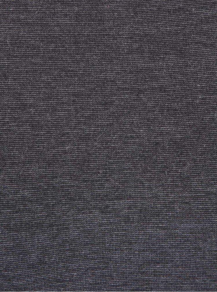 Tmavě šedé šaty s dlouhým rukávem a šněrováním na zádech ONLY Carine