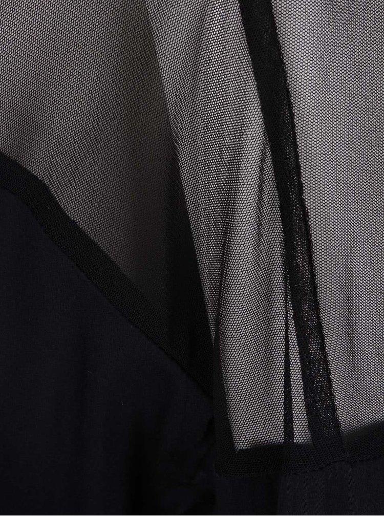 Černá halenka s průsvitnými detaily Alchymi Yorii