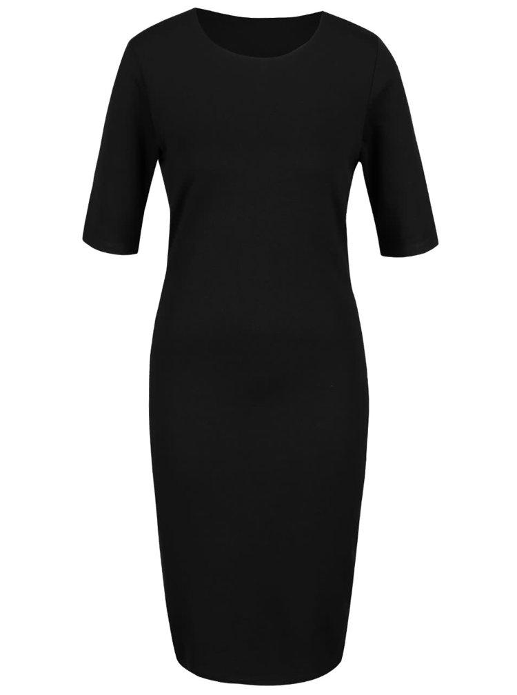 Čierne šaty s krátkym rukávom ONLY Bella