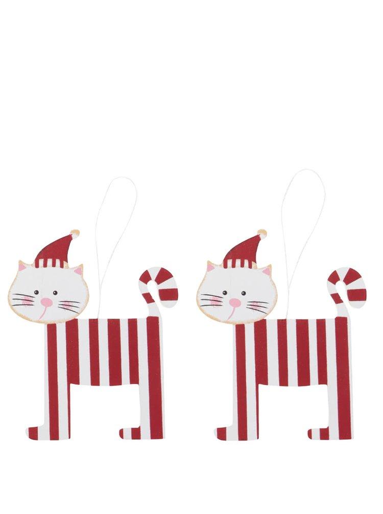 Set de 2 ornamente roșu & alb Sass & Belle
