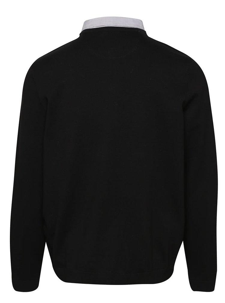 Pulover negru Burton Menswear London cu aspect 2 in 1