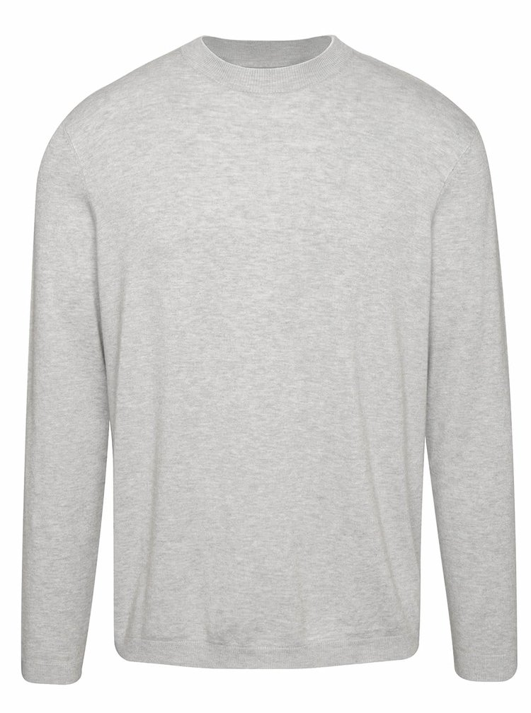 Světle šedý žíhany svetr  Burton Menswear London