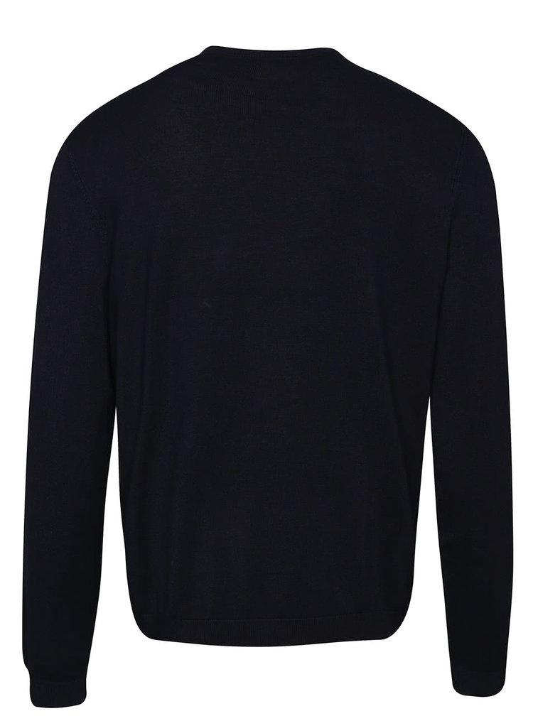 Pulover albastru inchis Burton Menswear London