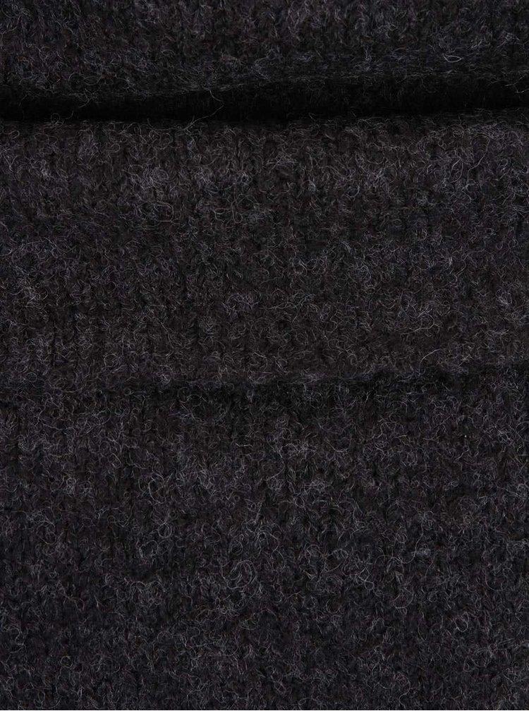 Tmavě šedý oversize svetr s příměsí vlny ONLY Bergen