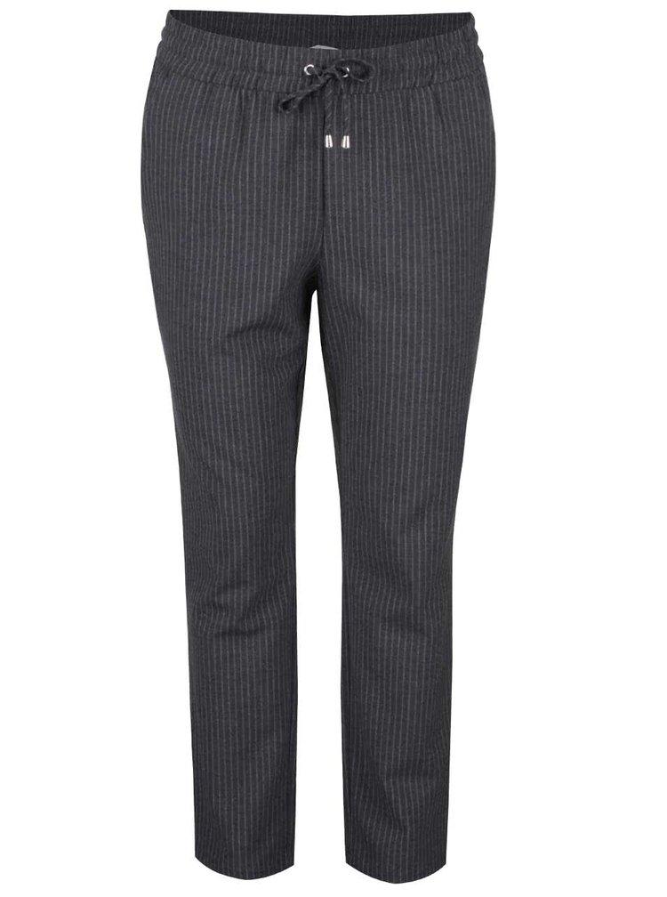 Šedé pruhované kalhoty ONLY Poppy