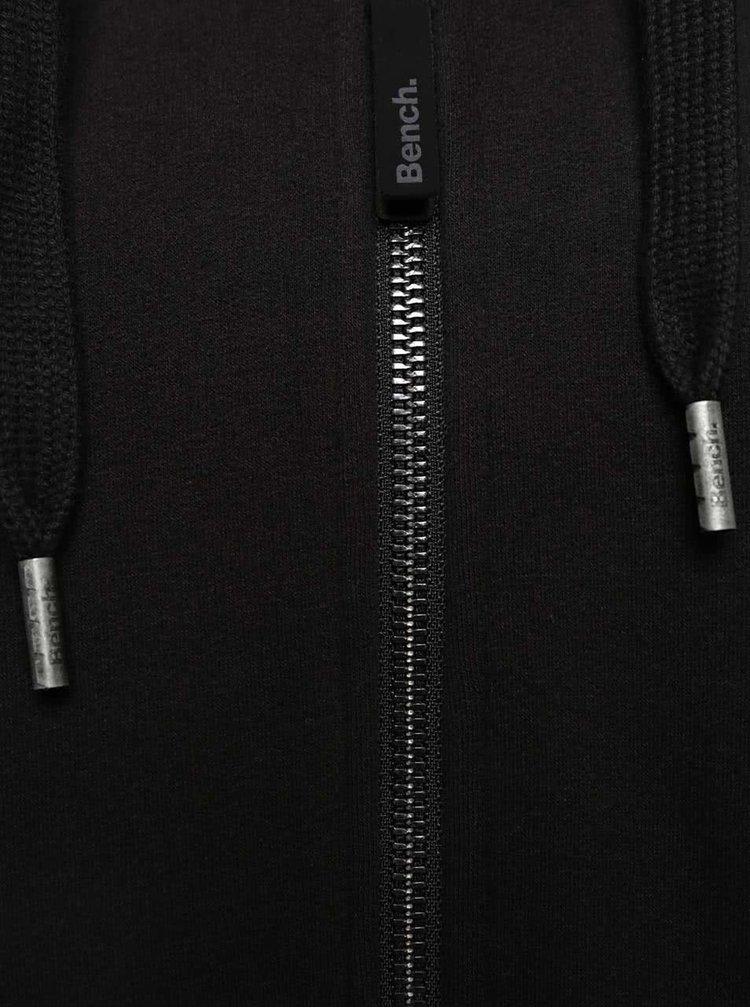 Čierna dámska dlhšia mikina na zips Bench Bohemic