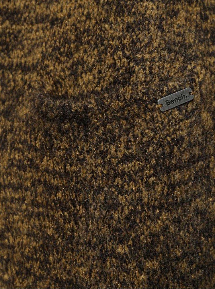 Khaki žíhaný dámský delší kardigan Bench Patron