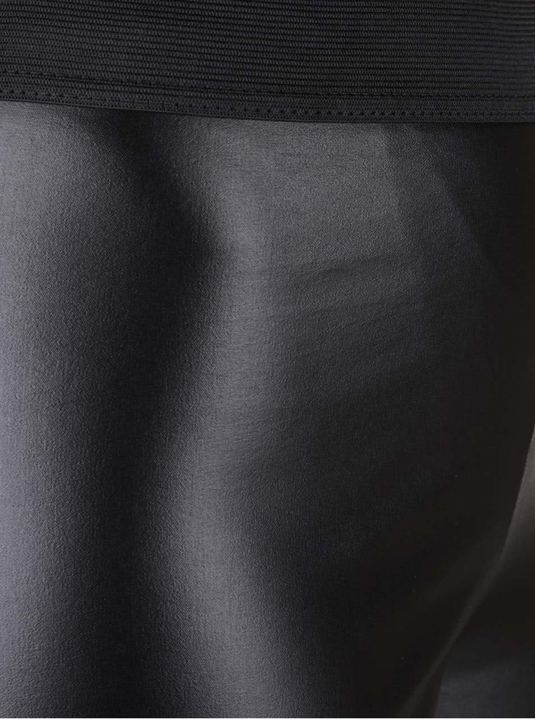 Čierne lesklé legíny Selfridge Steffi