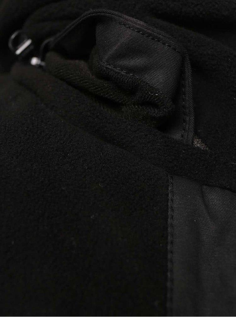 Čierna dámska parka so skrytou kapucňou Bench Concise