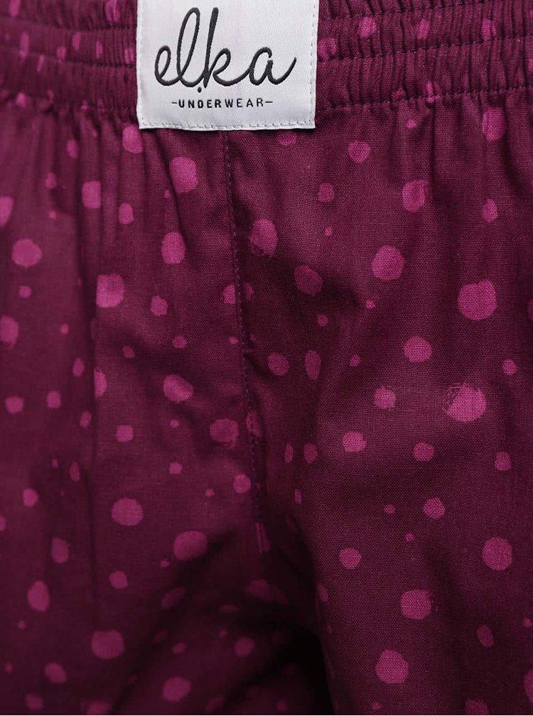 Fialové dámske trenírky s ružovými bodkami El.Ka Underwear
