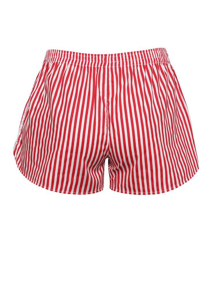 Bielo-červené dámske pruhované trenírky El.Ka Underwear