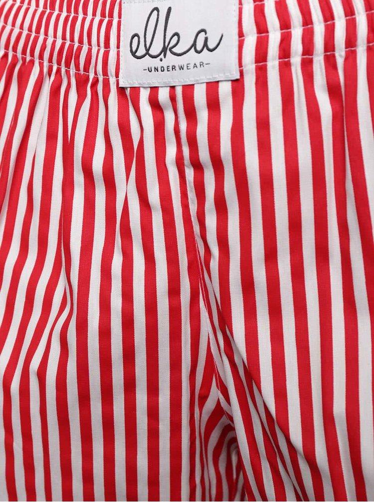 Boxeri de dama El.Ka Underwear rosii cu dungi